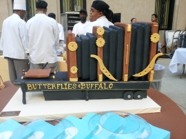 Replica cake of Butterflies & Buffalo camera by TipsyCake